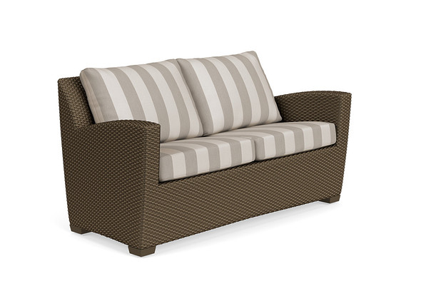 Fusion Loveseat - Pillow Back By Brown Jordan