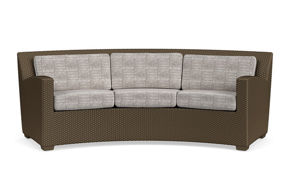Fusion Curved Sofa - Slim Back By Brown Jordan