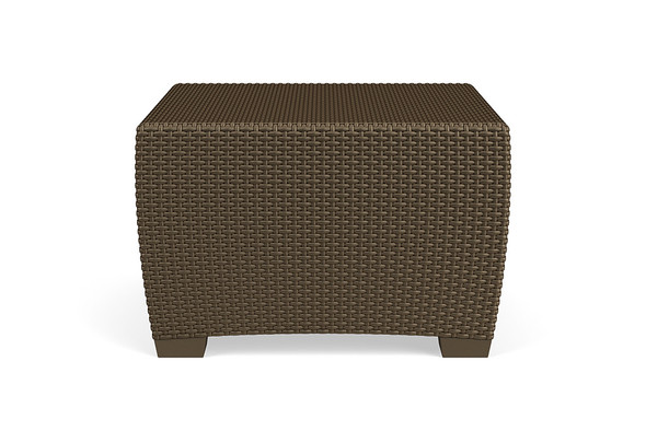 "Fusion 28"" Square Woven Coffee Table By Brown Jordan"