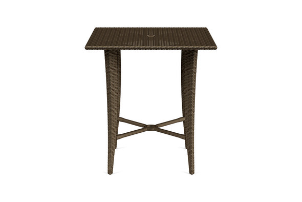 "Fusion 36"" Square Woven Bar Umbrella Table By Brown Jordan"