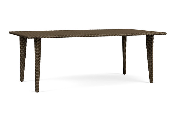 "Fusion 44""x78"" Rectangle Woven Dining Umbrella Table By Brown Jordan"