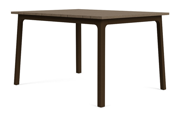 "Adapt 36""x48"" Rectangle  Driftwood Dining Table  By Brown Jordan"