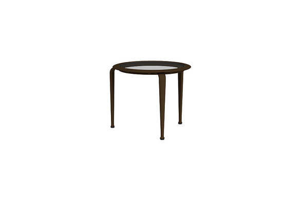 "21"" Round Stacking Occasional Table By Brown Jordan"