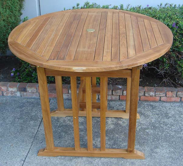 "Kingston Teak Bar Table 40"" by Classic Table"