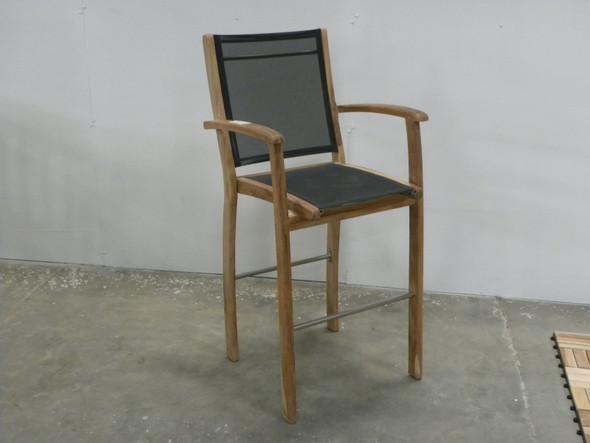 Batyline Bar Arm Chair Brown by Classic Teak