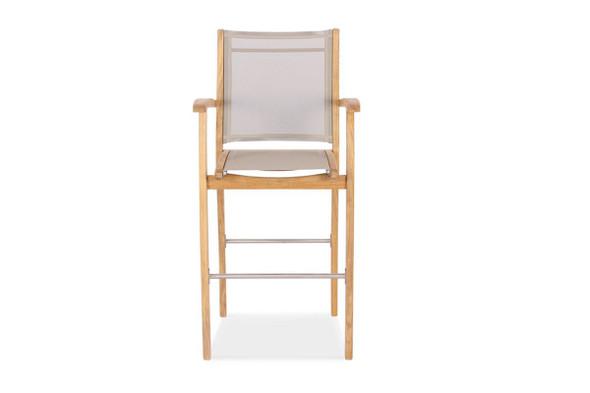 Batyline Bar Arm Chair Taupe by Classic Teak