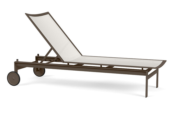 Parkway Flex Sling Flat Adjustable Chaise with Wheels By Brown Jordan