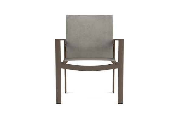 Parkway  Sling Stacking Arm Chair By Brown Jordan