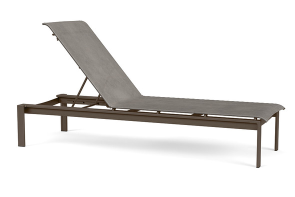 Parkway  Sling Stacking Flat Adjustable Chaise By Brown Jordan