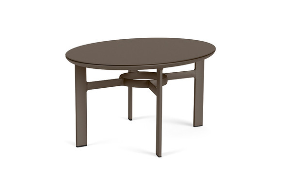 "Parkway 30""x42"" Oval Coffee Table By Brown Jordan"