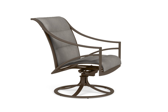 Pasadena Padded Sling Swivel Motion Lounge Chair By Brown Jordan