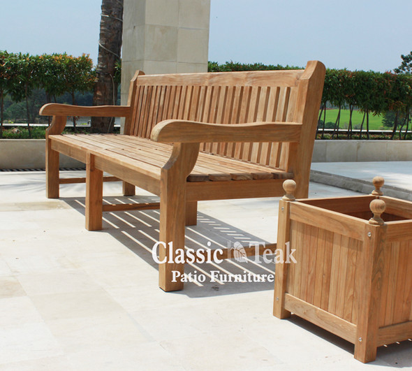 Commercial Teak Bench 8' by Classic Teak