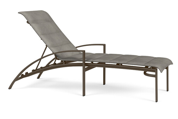 Pasadena Padded Sling Stacking Adjustable Chaise By Brown Jordan