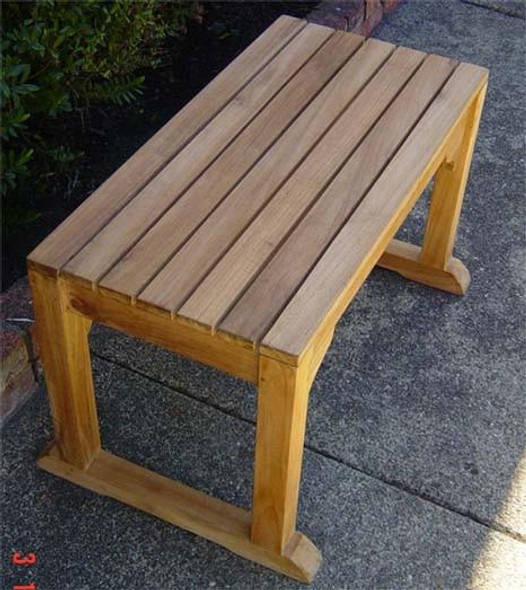 "Backless Single Bench 30"" by Classic Teak"
