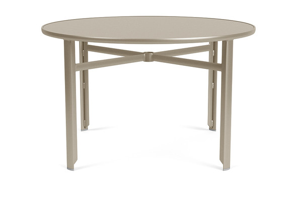 """Sirocco  48"""" Round Dining Table Glass Top By Brown Jordan"""
