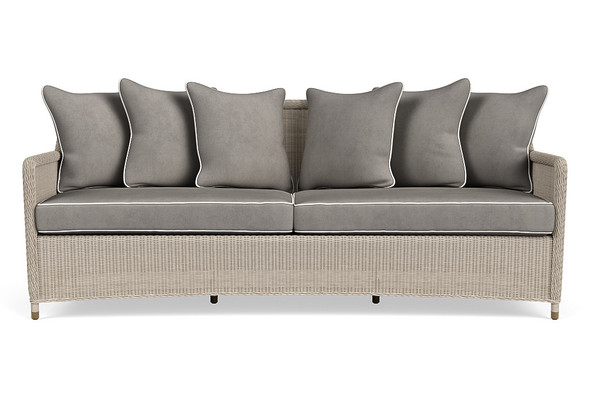 Southampton Sofa with 6 Square Pillows By Brown Jordan