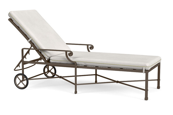 Venetian Adjustable Chaise with Wheels By Brown Jordan