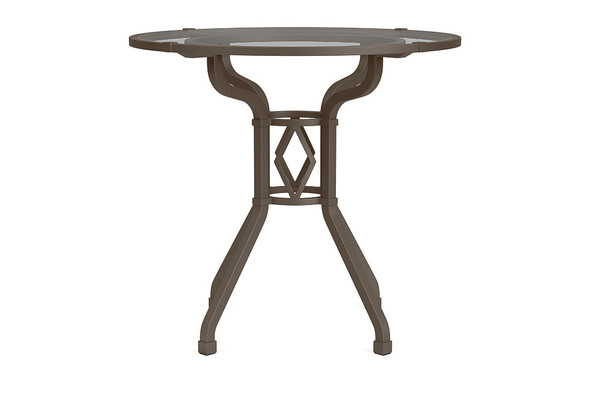 "Venetian 30"" Round Pedestal Dining Table By Brown Jordan"