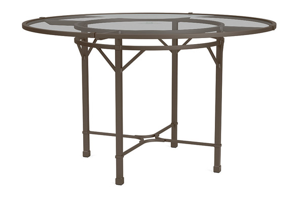 "Venetian 48"" Round Pedestal Dining Table By Brown Jordan"