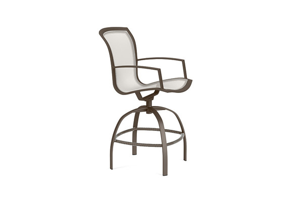 Wave Swivel Bar Chair By Brown Jordan