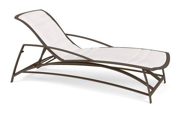 Wave Padded Flat Adjustable Chaise By Brown Jordan