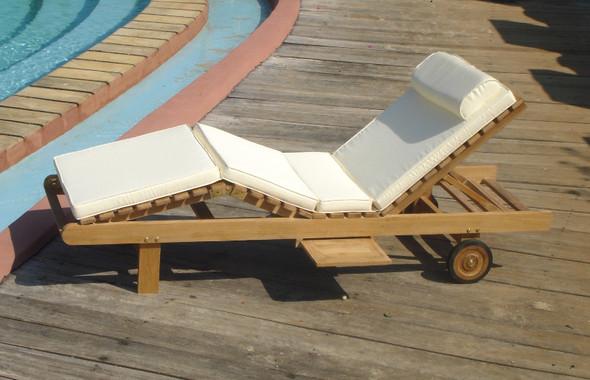 Hampton Teak  Chaise Lounger by Classic Teak