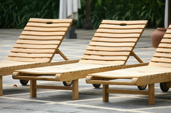 Hampton Teak  Chaise Lounger by Classic Teak