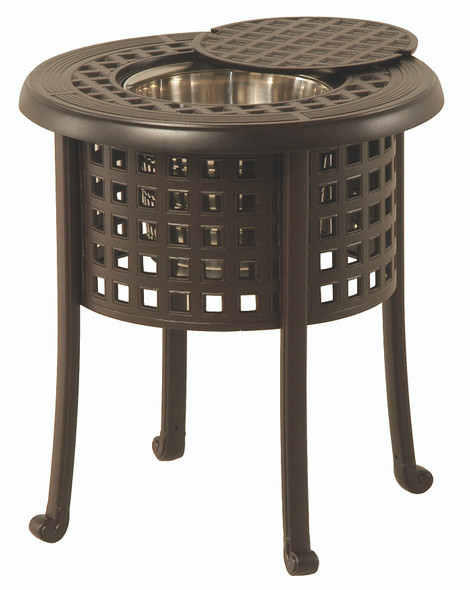"Classic 20"" Round Ice Bucket Side Table By Hanamint"