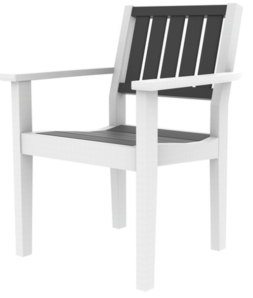 Greenwich Dining Arm Chair  Slatted Back By Seaside Casual