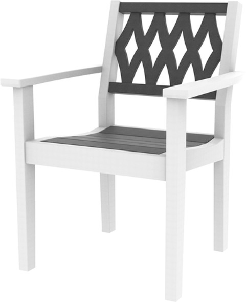Greenwich Dining Arm Chair Diamond Back Style By Seaside Casual