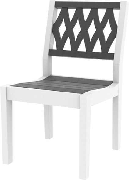 Greenwich Dining Side Chair Diamond Back Style By Seaside Casual