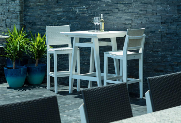 MAD Bar Side Chair Woven By Seaside Casual