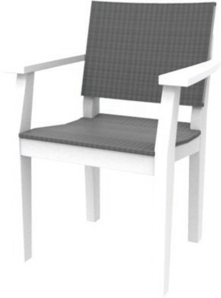 MAD Dining Arm Chair Woven By Seaside Casual