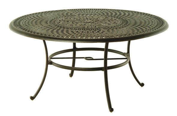 "Bella 60"" Round Table with Inlaid Lazy Susan Set  by Hanamint"