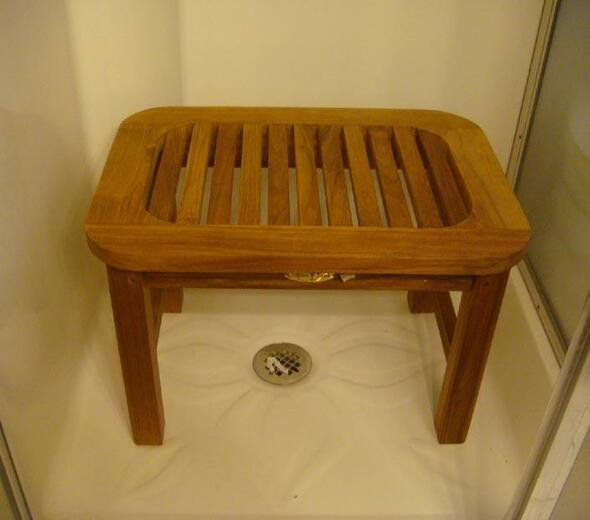 Teak Shower Bench by Classic Teak