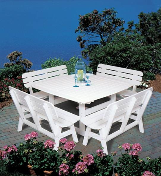 "Portsmouth Dining Table 56"" x 56"" By Seaside Casual"