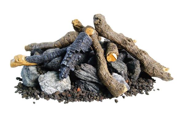 Beachwood Logs, Stones by American Fyre Design