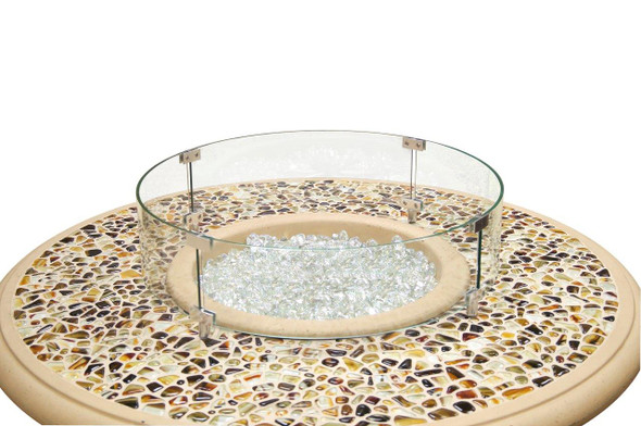 Round Glass Wind Guard by American Fyre Design
