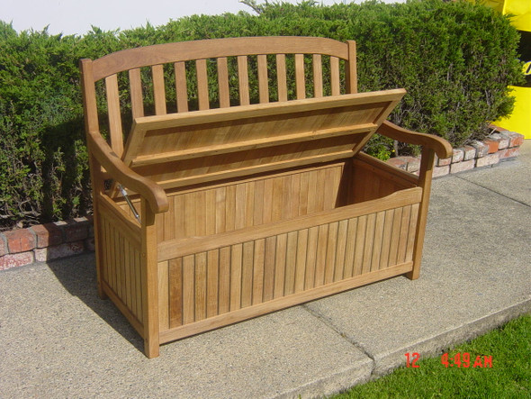 Teak Storage Bench 4' by Classic Teak