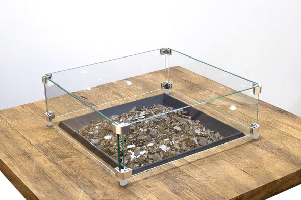 Square Glass Wind Guard by American Fyre Design