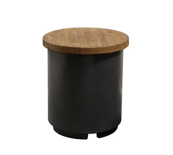 Recl. Wood Contempo Tank/End Table by American Fyre Design