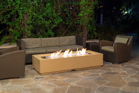 Louvre Long Rectangle Fire Pit by American Fyre Design