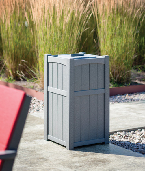 Wickford Trash Receptacle By Seaside Casual