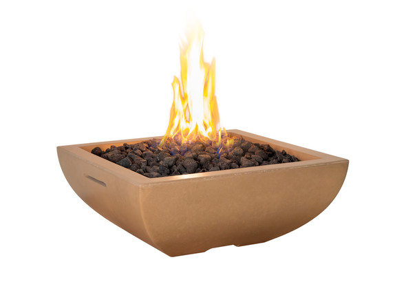 Bordeaux Petite Square Fire Bowl by American Fyre Design
