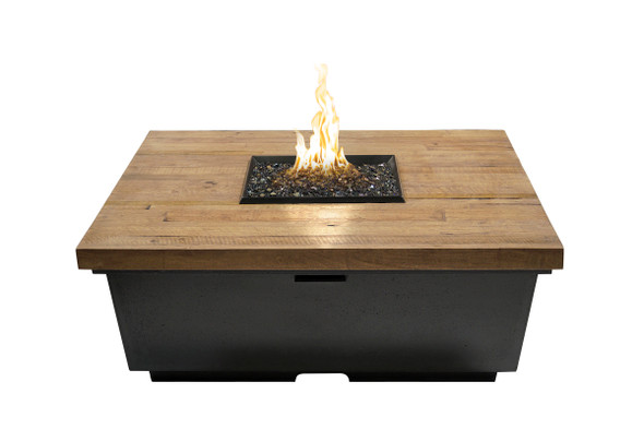 "44"" Chat Height Reclaimed Wood Contempo Square Firetable by American Fyre Design"