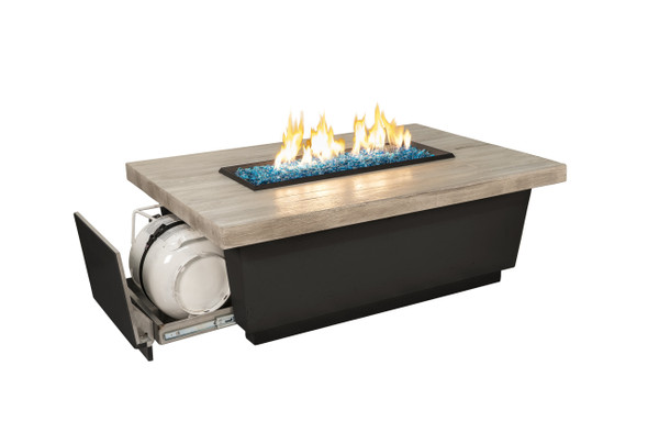 Reclaimed Wood Contempo LP Select Firetable by American Fyre Design