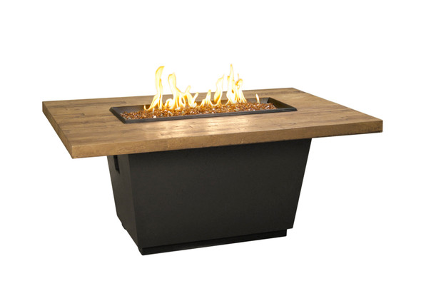 "54"" Reclaimed Wood Cosmo Rectangle Firetable by American Fyre Design"