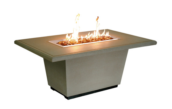 "54"" Cosmopolitan Rectangle Firetable by American Fyre Design"
