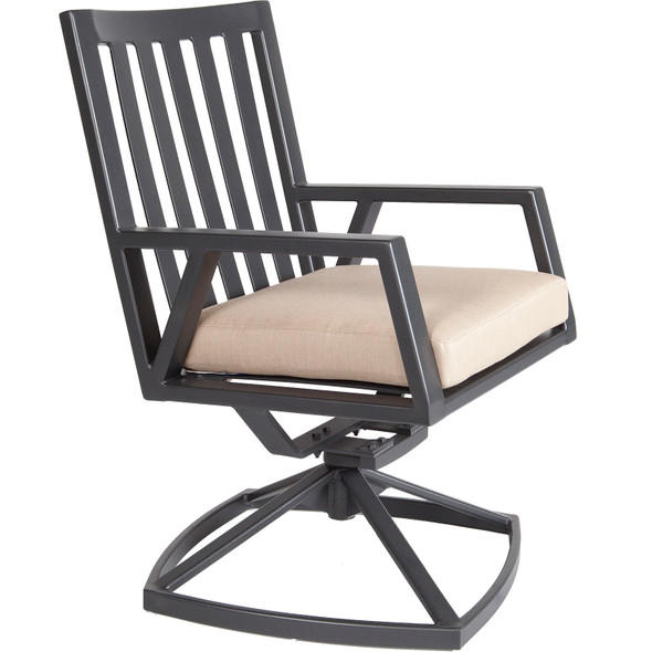 Aris Swivel Rocker Dining Arm Chair by OW Lee