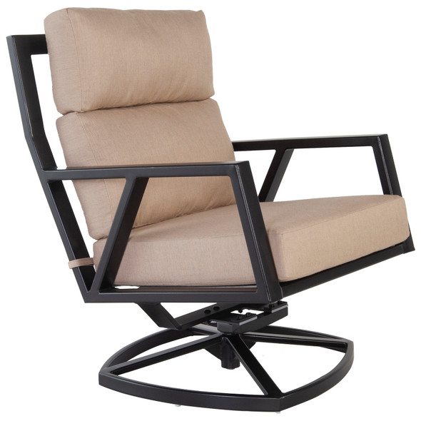 Aris Urban-Scale Swivel Rocker Lounge Chair by OW Lee